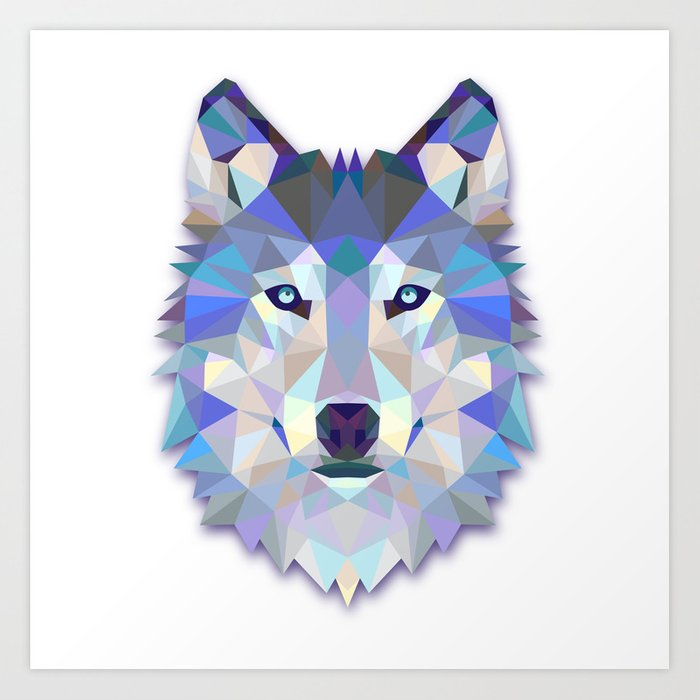 Colorful Wolf Kunstdrucke