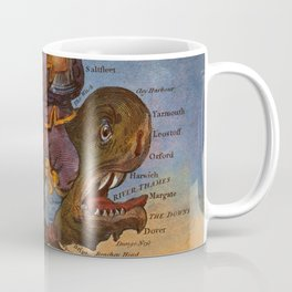 Vintage Illustrative Map of England (1795) Coffee Mug