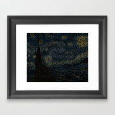 Painting with Words Framed Art Print