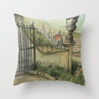 italian Throw Pillows featuring Italian Garden by Emily Dwan
