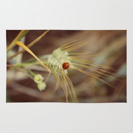 Ladybug on wheat Rug