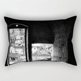 Sassi di Matera: home Rectangular Pillow