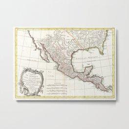 Vintage Map of Mexico (1771) Metal Print