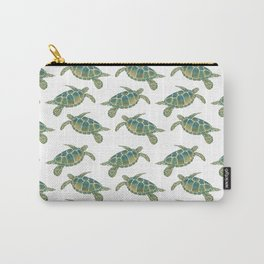 Watercolour Sea Turtle Pattern Carry-All Pouch