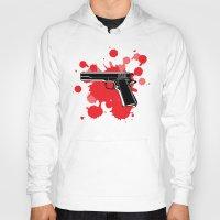 guns Hoodies featuring Guns Kill by DaceDesigns