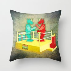 Rocket Socket Unicorn Throw Pillow