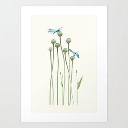Dragonfly Date Art Print