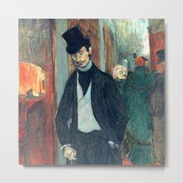 """Henri de Toulouse-Lautrec """"Doctor Gabriel Tapie"""" Metal Print"""