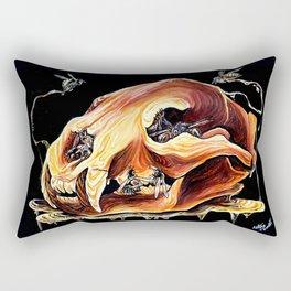 Honey Bear Skull Rectangular Pillow