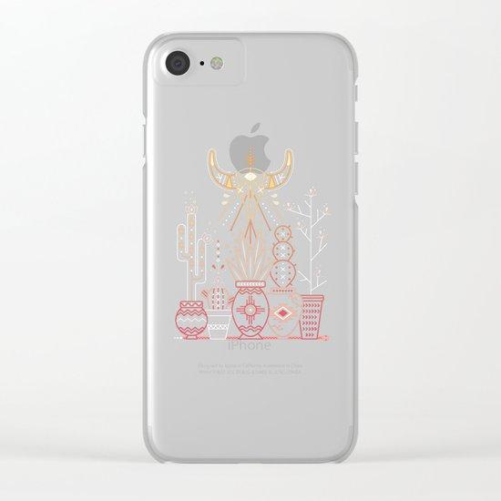 Santa Fe Garden – Pink Sunset Clear iPhone Case