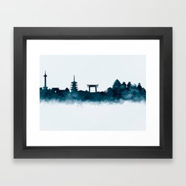 Kyoto Skyline Framed Art Print