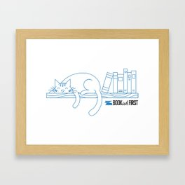 The Purrfect Reading Buddy Framed Art Print