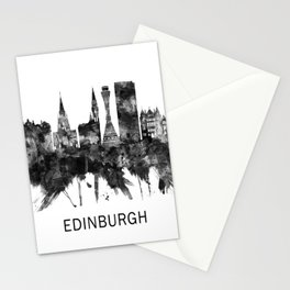 Edinburgh Scotland Skyline BW Stationery Cards