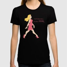 On Wednesdays, we wear Pink Black Womens Fitted Tee SMALL