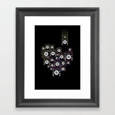 DJ LOVE Framed Art Print