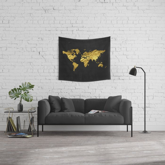 Black gold decor gold world map office decor bathroom glam black gold decor gold world map office decor bathroom glam black gumiabroncs Gallery