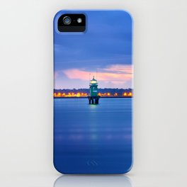 Blue hour. Dublin port iPhone Case