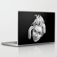 miley cyrus Laptop & iPad Skins featuring Miley Cyrus by anomaly alice