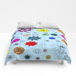 color me flaky Comforters