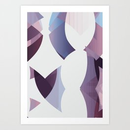 012 - Abstract Shape Angles Curves Art Print