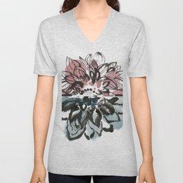 Watercolor Flower Unisex V-Neck
