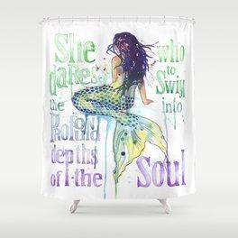 Mermaid : Profound Depths Shower Curtain