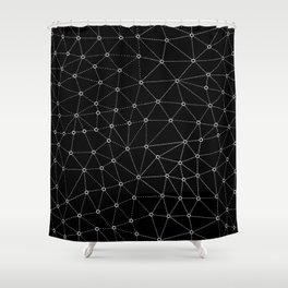 African Triangle Black Shower Curtain