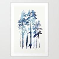 wolf Art Prints featuring Winter Wolf by Robert Farkas
