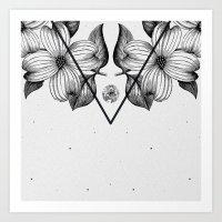 flora Art Prints featuring FLORA by Nikola Nupra