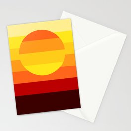Sunset Stripe Stationery Cards