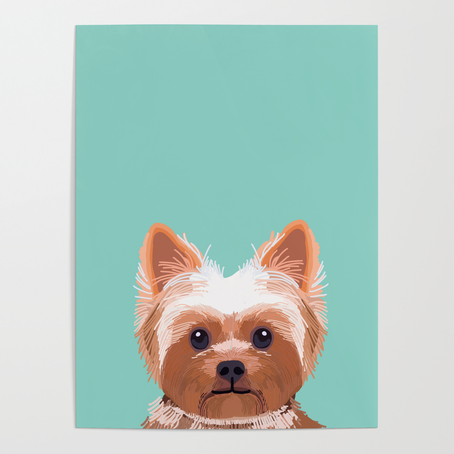 Yorkshire Terrier Dog Portrait Pink Cute Art Gifts For Yorkie Dog Breed Lovers Poster By Petfriendly Society6