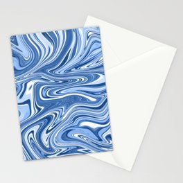 Classic Blue Swirls Stationery Cards