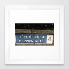 Merrion Funny Framed Art Print