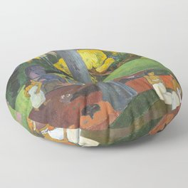 Mata Mua by Paul Gauguin Floor Pillow