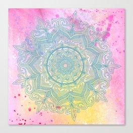 pink splash mandala Canvas Print