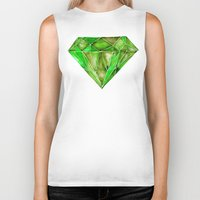 geode Biker Tanks featuring Peridot by Cat Coquillette