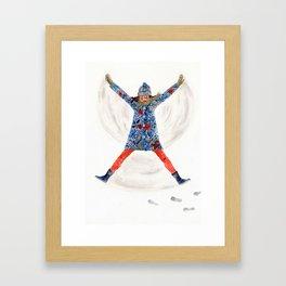 snowangel Framed Art Print