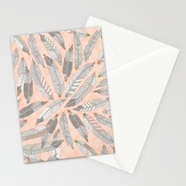 desert feathers Stationery Cards