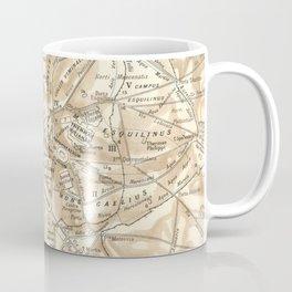 Vintage Map of Rome Italy (1870) Coffee Mug