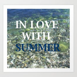 In love with Summer Art Print