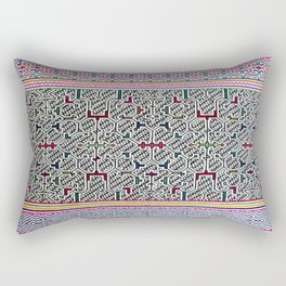 Song to Bring Blessings to a Marriage - Traditional Shipibo Art - Indigenous Ayahuasca Patterns Rectangular Pillow