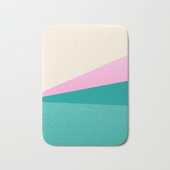 Stripe XIV Pink Summer Sunrise Bath Mat