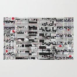 Opportunistic Species (P/D3 Glitch Collage Studies) Rug