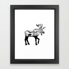 THE MOOSE AND THE BEAR Framed Art Print