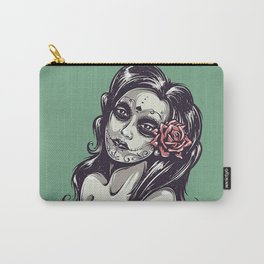 beautiful girl and flower Carry-All Pouch