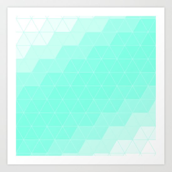 Mint Triangle Art Print