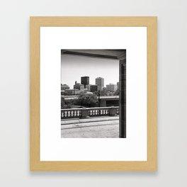 Dayton Skyline View from Dayton Art Institute 1979 Framed Art Print