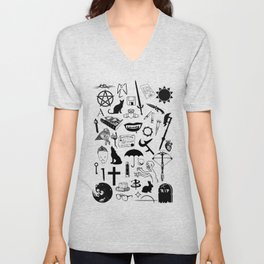 Buffy Symbology, Black Unisex V-Neck