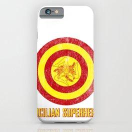 Sicilian Pride - Sicilia Flag Super Hero Style Illustrations iPhone Case