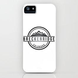 Breckenridge Colorado Ski Snowboard Breck Brewery iPhone Case